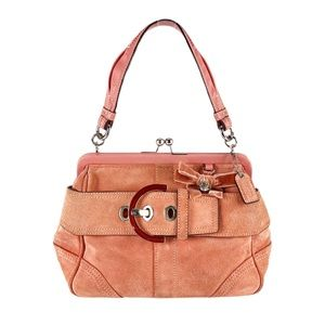 Coach VTG Collector Mini Doctor Bag Kisslock Blush
